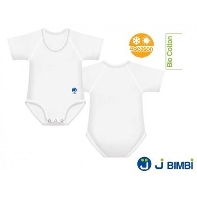 J BIMBI - Body Bumbac Organic 4Season 0-36 luni Alb
