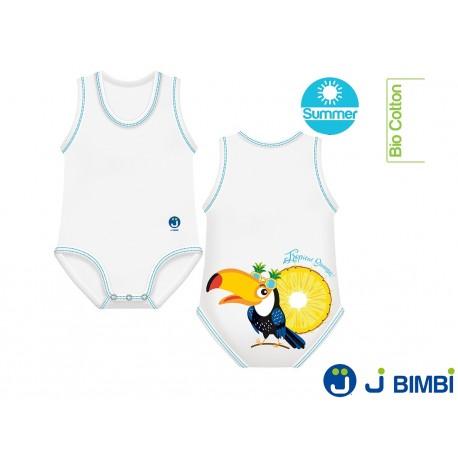 Body Bumbac Organic Summer 0-36 luni Tucan