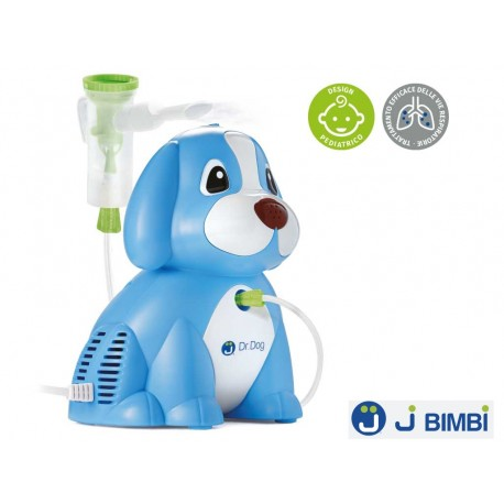 Aparat pentru aerosoli (nebulizator) J BIMBI Dr. Dog Albastru