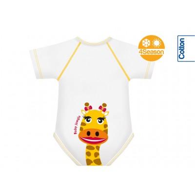Body bebe bumbac Oeko Tex 4Season marime unica 0-36 luni Girafa