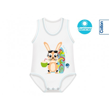 Body din Bumbac Summer 0-36 luni Farm Collection Iepure