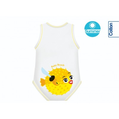 Body din Bumbac Summer 0-36 luni Beach Collection Pestele Balon