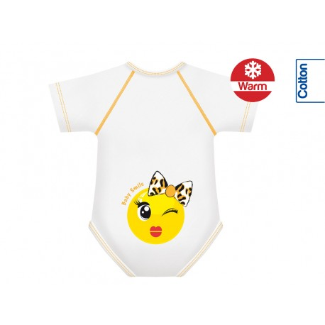 Body din Bumbac Warm 0-36 luni Smile Collection Fundita