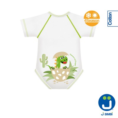 Body din Bumbac Organic 4Season 0-36 luni D&D Collection Baby Dinozaur