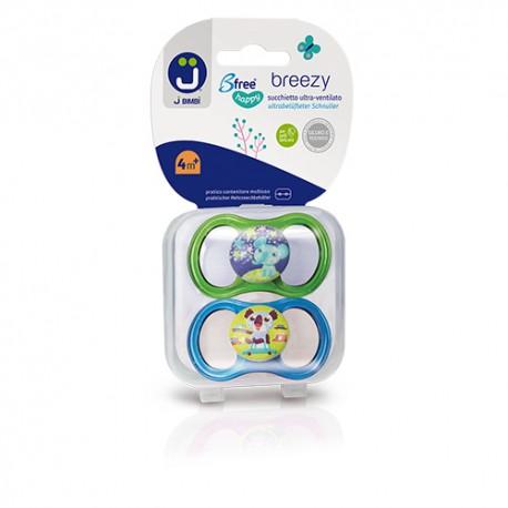 J BIMBI – Breezy Suzete silicon medicinal 4m+ - 2buc Verde/Turcoaz