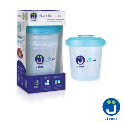 J BIMBI – Stic Stac Recipiente stocare lapte si alimente – 3buc