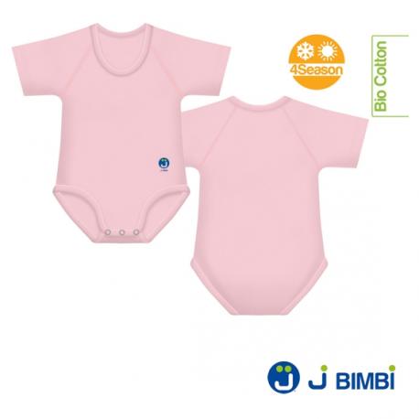 J BIMBI - Body Bumbac Organic 4Season 0-36 luni Roz